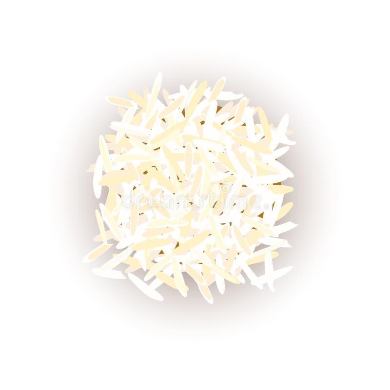 Grains de riz basmati Illustration de vecteur Pour culinaire, café, illustration de vecteur