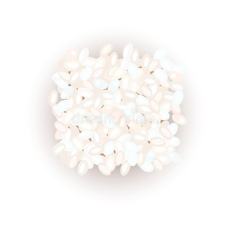 Grains de riz de sushi Illustration de vecteur Pour culinaire, café, illustration stock