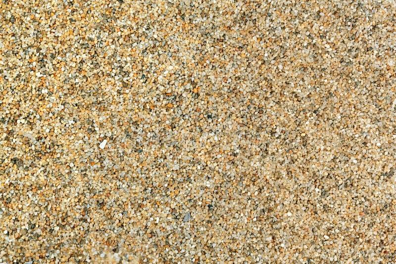 Grains de sable transparents de plan rapproché de sable de quartz pour le fond ou la texture images libres de droits