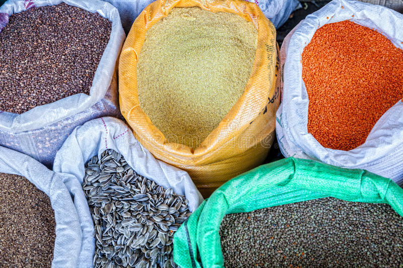 Download Grains stock image. Image of sack, sunflower, cereal - 36374081