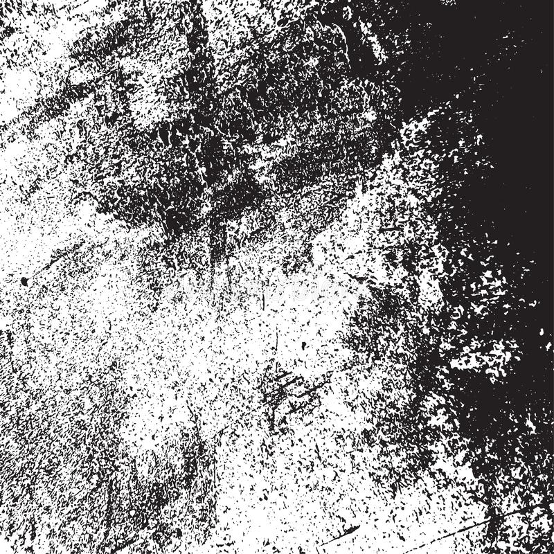 Grainy Overlay Texture. Distress urban used texture. Grunge rough dirty background. Brushed black paint cover. Overlay aged grainy messy template. Renovate wall royalty free illustration