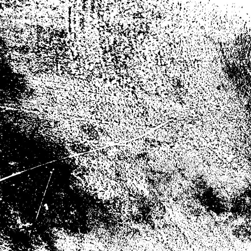 Grainy Overlay Texture. Distress urban used texture. Grunge rough dirty background. Brushed black paint cover. Overlay aged grainy messy template. Renovate wall stock illustration