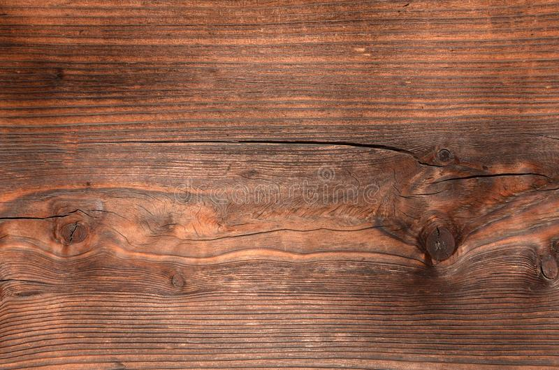 Grainy Texture Old Weathered Wood Beam Knots Stock Photo