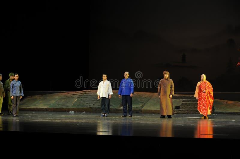 Grający główna rolę zasłony wezwania Jiangxi operę bezmian fotografia royalty free