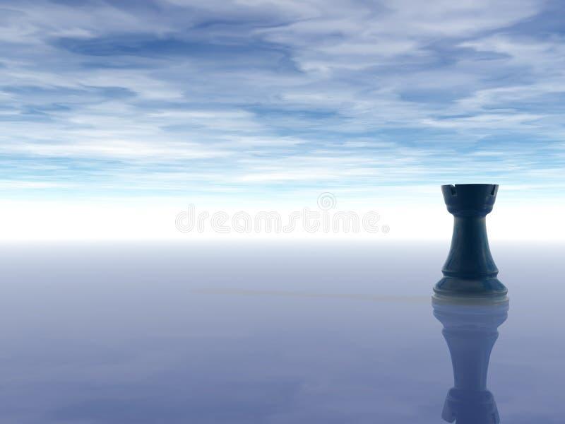 Grajo del ajedrez ilustración del vector