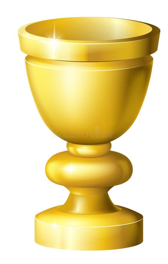 Gral oder Becher des goldenen Cup lizenzfreie abbildung