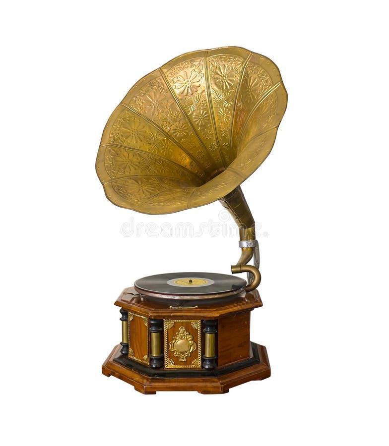 Gramófono de la vendimia fotografía de archivo libre de regalías