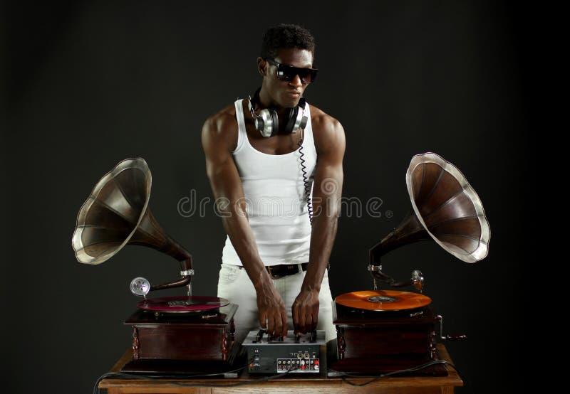 Gramófono DJ imagen de archivo