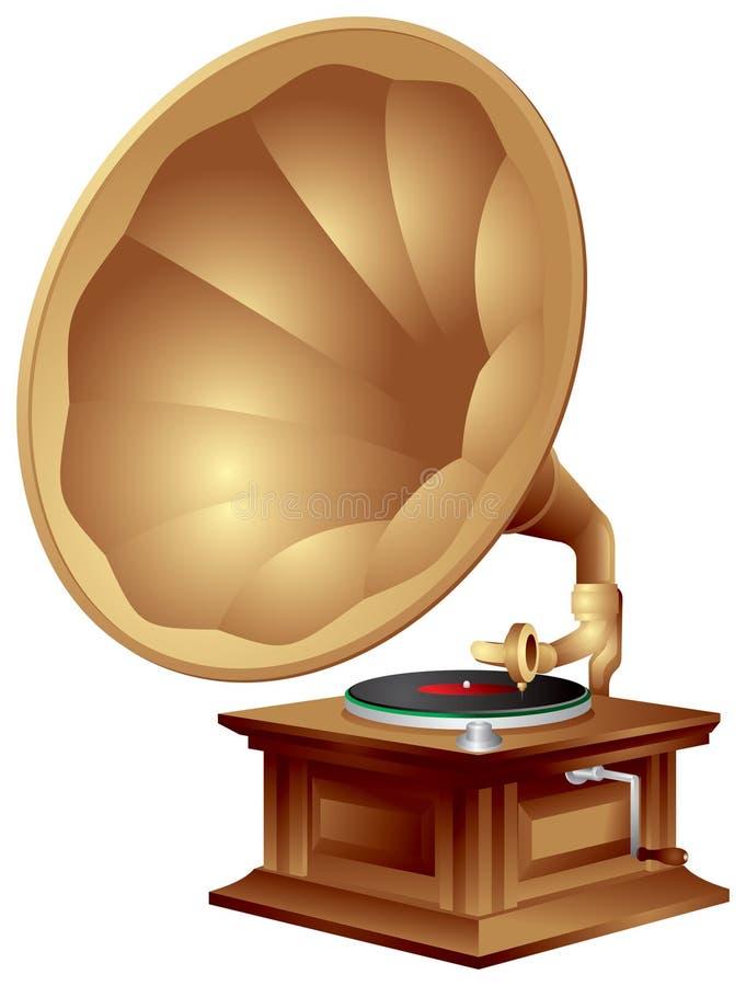 Gramófono, fonógrafo ilustración del vector
