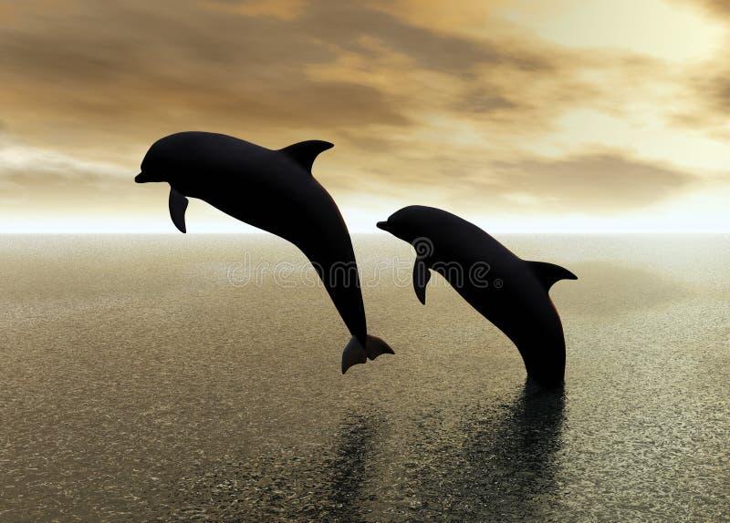 gram delfinów