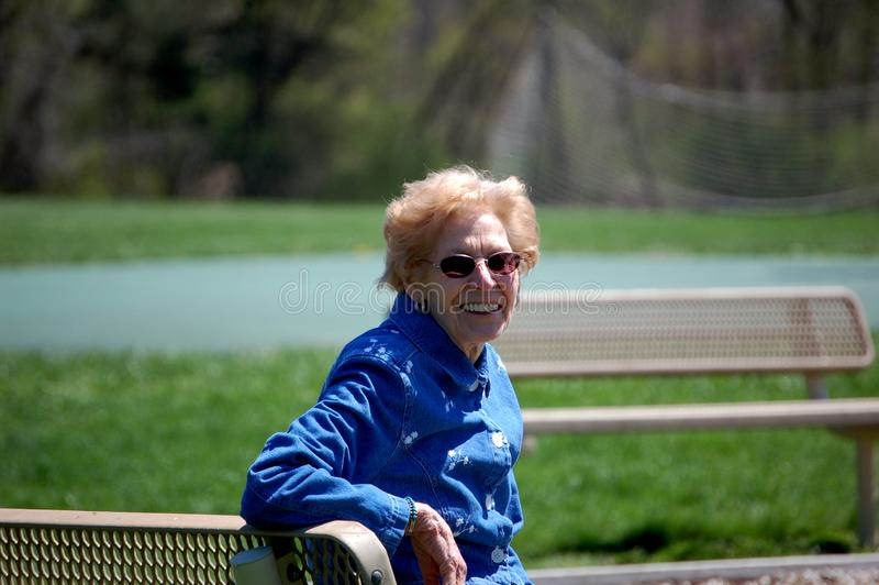 Gram at the park royalty free stock image