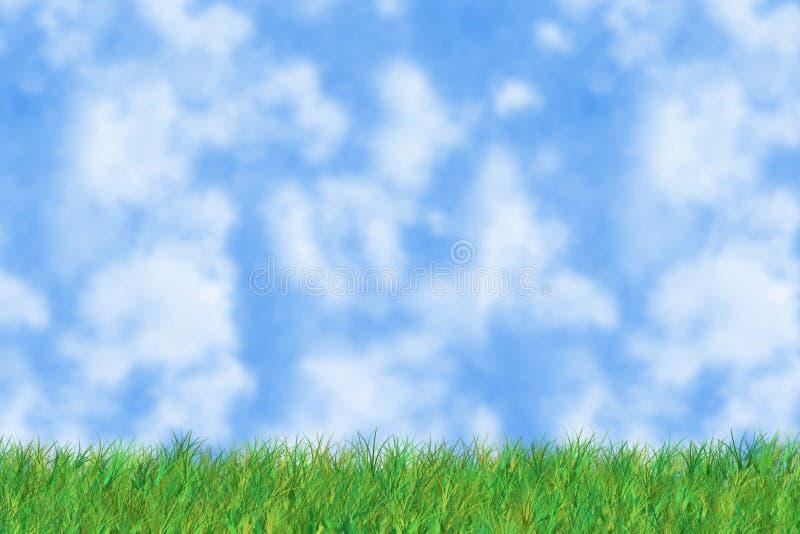 Download A grama é verde ilustração stock. Ilustração de nave, céu - 69954