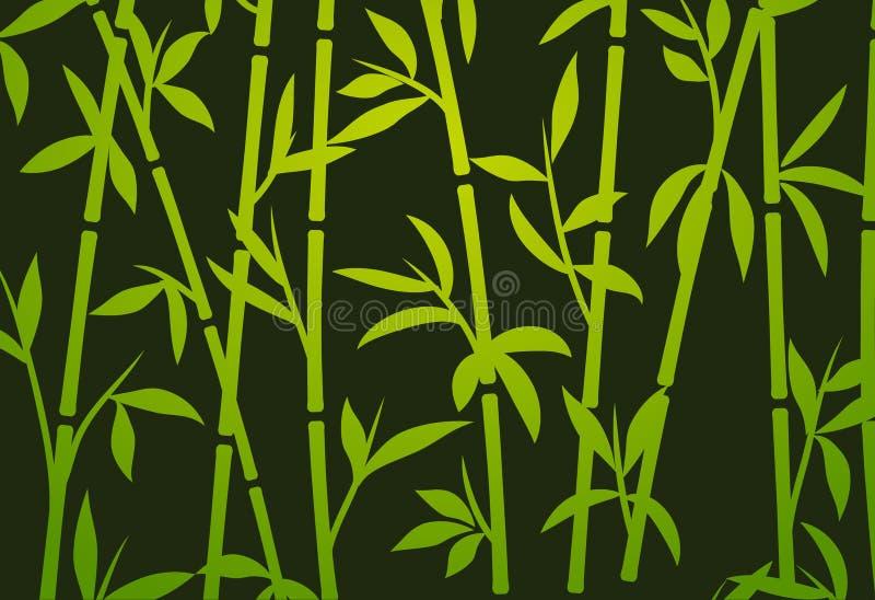 Grama asiática japonesa do papel de parede da planta do fundo de bambu Teste padrão de bambu do vetor da árvore ilustração royalty free