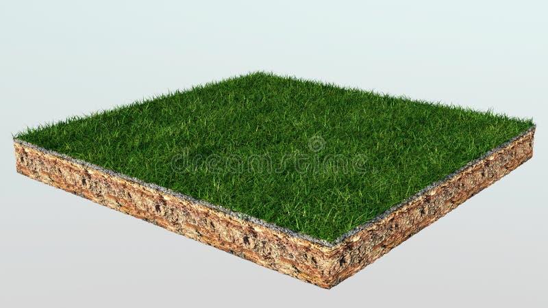 grama 3d ilustração stock