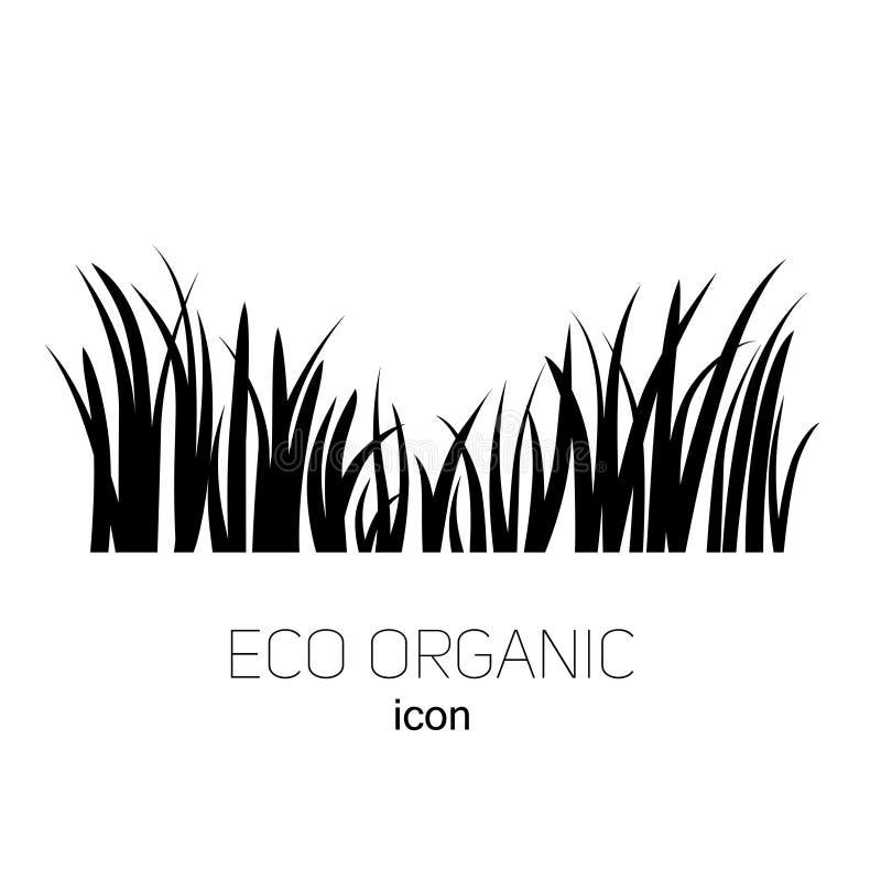 Grama do logotipo do ícone ilustração do vetor