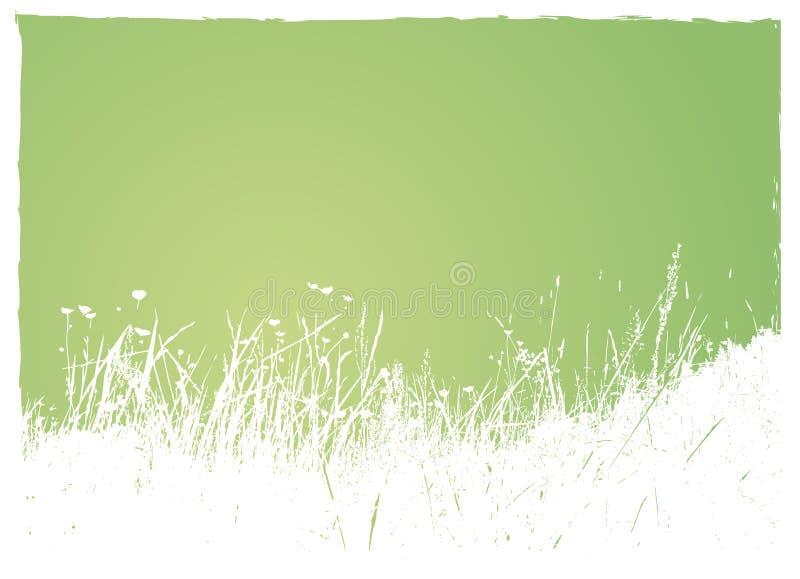 Grama no fundo verde. ilustração do vetor