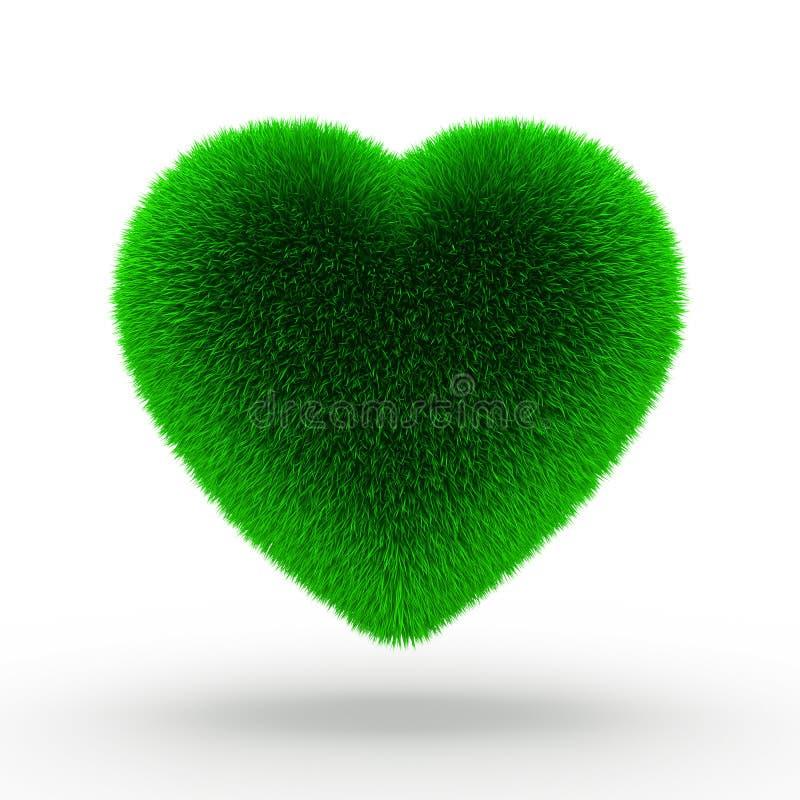 Grama verde do coração ilustração do vetor