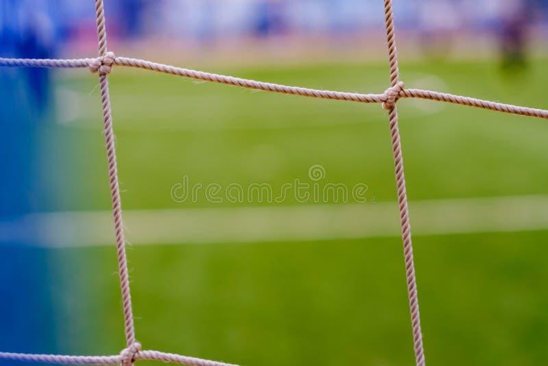 Grama verde do futebol do campo de futebol, canto fotografia de stock
