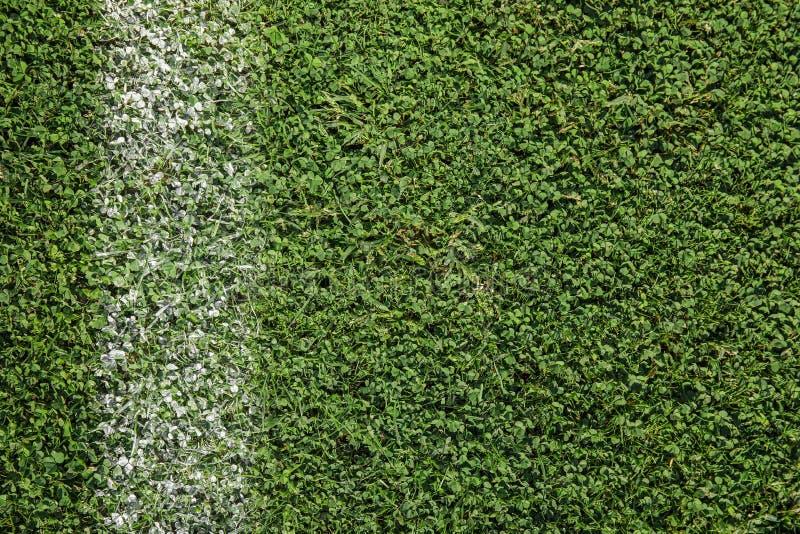 Grama verde fresca do campo de futebol imagem de stock royalty free