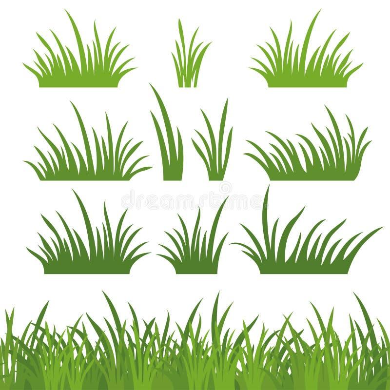 Grama verde, sem emenda e ajustado ilustração do vetor
