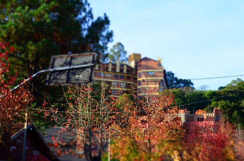 Gramado Brasilien: Typisk arkitektur Gramado står ut bland andra städer för dess bayerska arkitektur arkivbilder