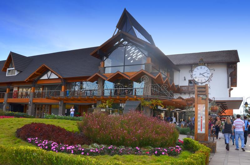 Gramado, Brazil :Typical architecture. Gramado stands out among other cities for its Bavarian architecture. Gramado,Brazil:Typical architecture.Gramado stands stock images