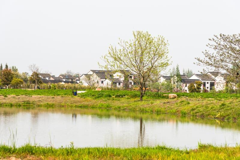 gramado e casa verdes fotografia de stock royalty free