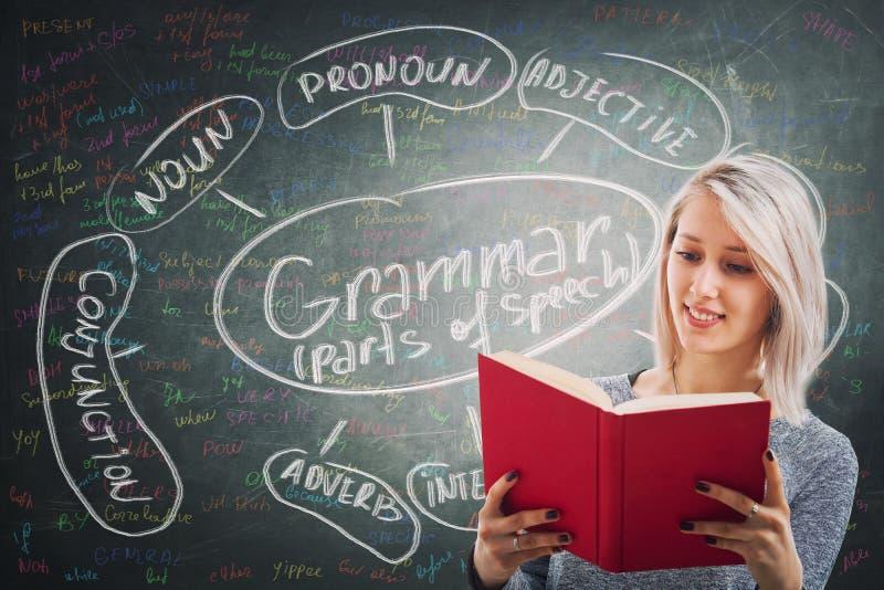 grammatik stockbilder