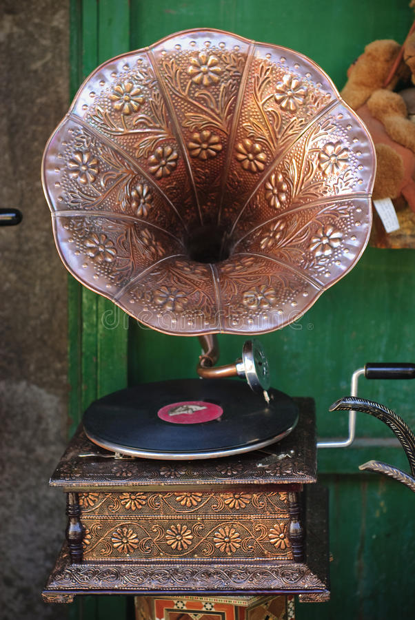 grammofon arkivfoto