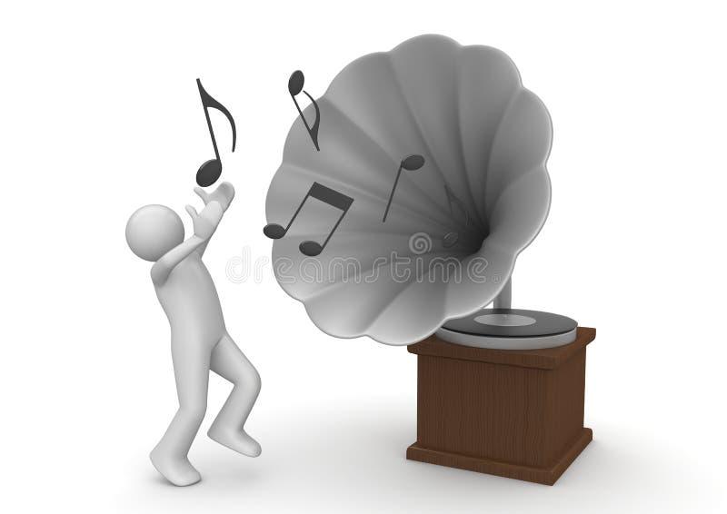 grammofon stock illustrationer