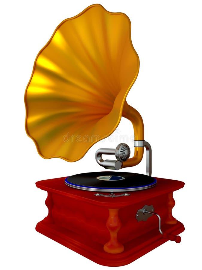 Grammofono antico del antiquarian illustrazione vettoriale