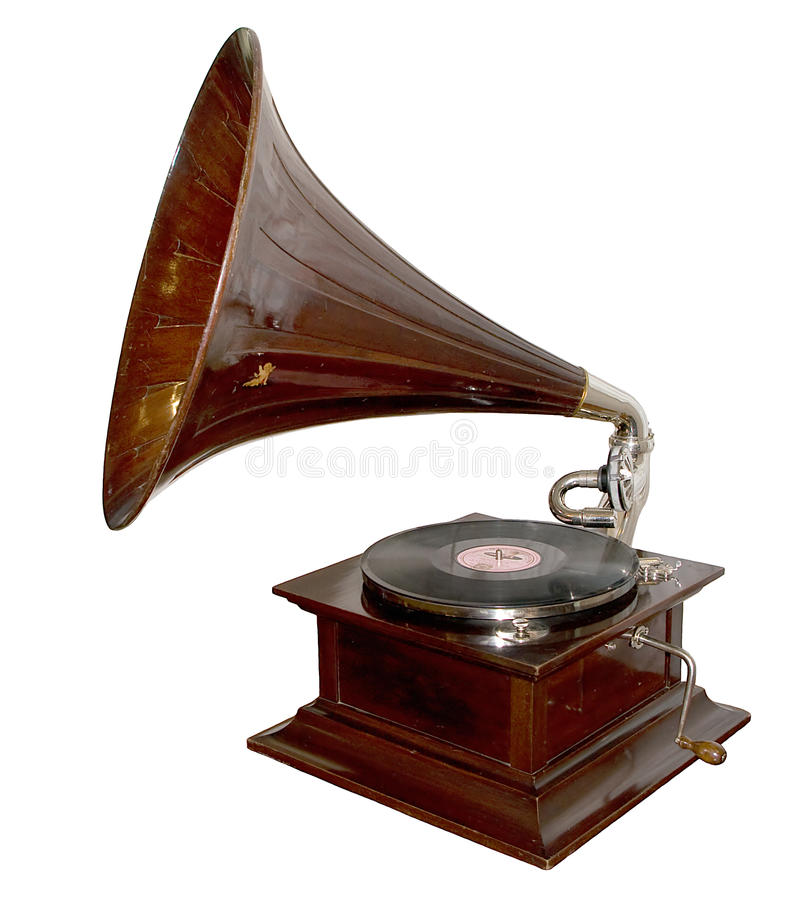 Grammofono dell'annata fotografie stock