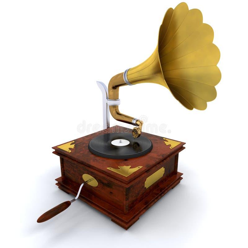 Grammophon lizenzfreie abbildung