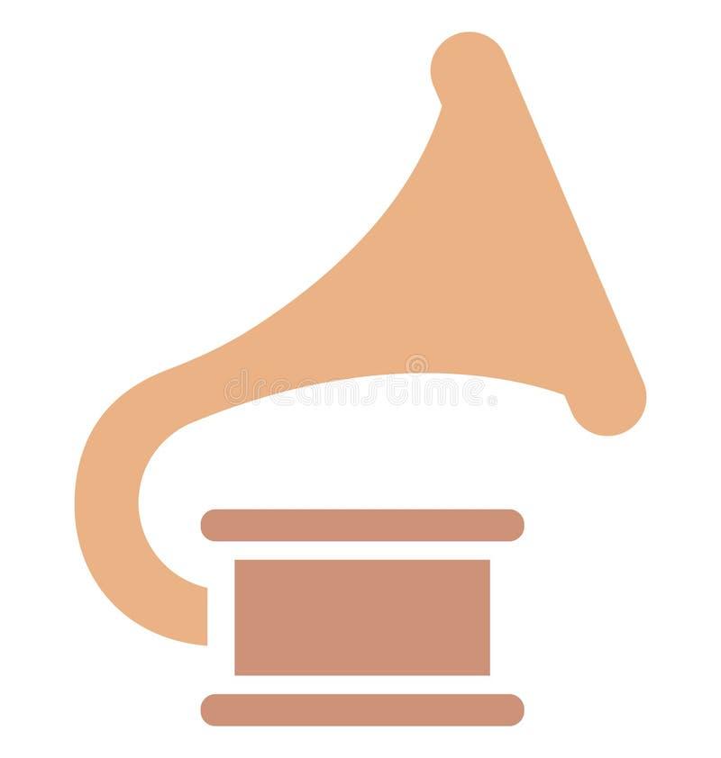 Grammophon lokalisierte Vektor-Ikone, die leicht ändern oder redigieren kann stock abbildung