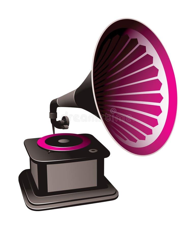 Grammophonabbildung stock abbildung