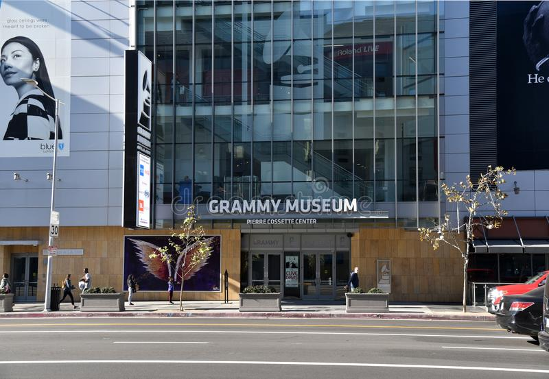 Grammy museum i Los Angeles royaltyfria foton