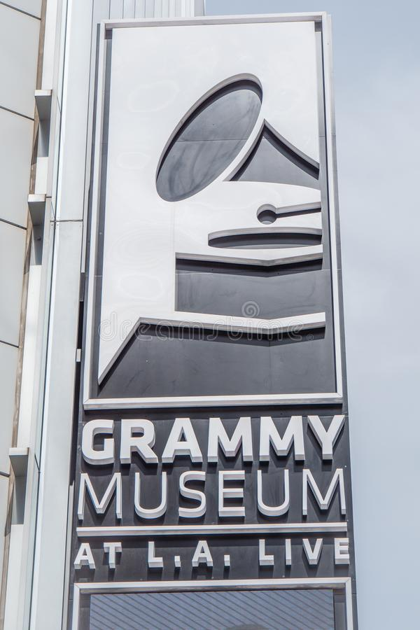 Grammy Museum in Los Angeles Downtown - CALIFORNIA, USA - MARCH 18, 2019 royalty free stock photography
