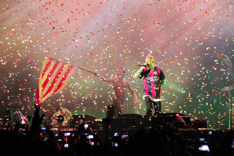 Grammy winners Macklemore & Ryan Lewis during his show in Cruilla Barcelona Festival, July 12 2014 stock images