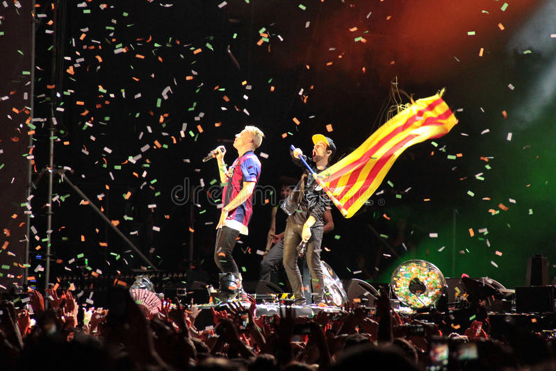 Grammy winners Macklemore & Ryan Lewis during his show in Cruilla Barcelona Festival, July 12 2014 royalty free stock photography