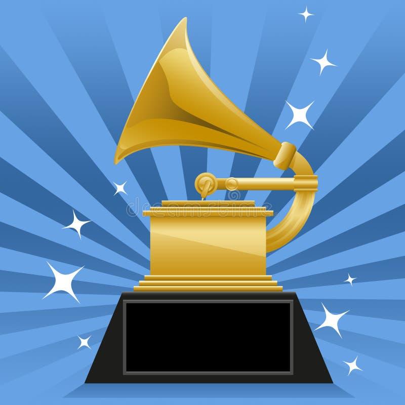 Grammypris vektor illustrationer