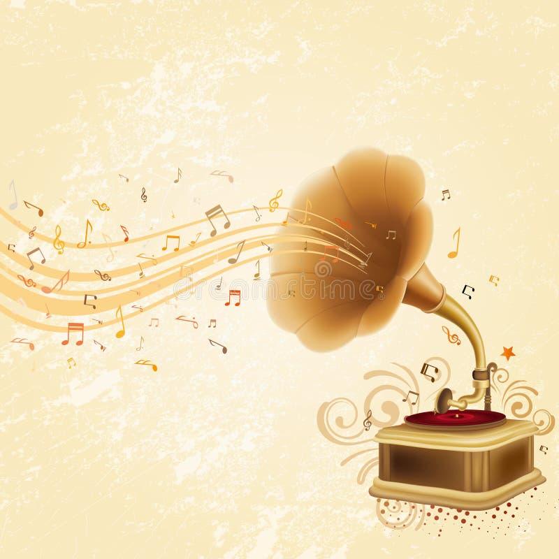 gramofon ilustracji