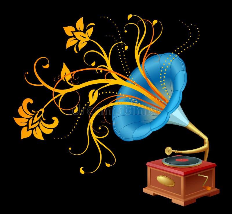 gramofon ilustracja wektor