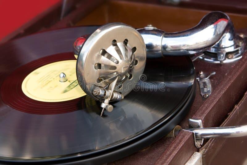 Gramofone do Close-up fotografia de stock