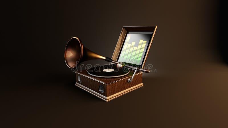 Gramofone musical criativo ilustração do vetor
