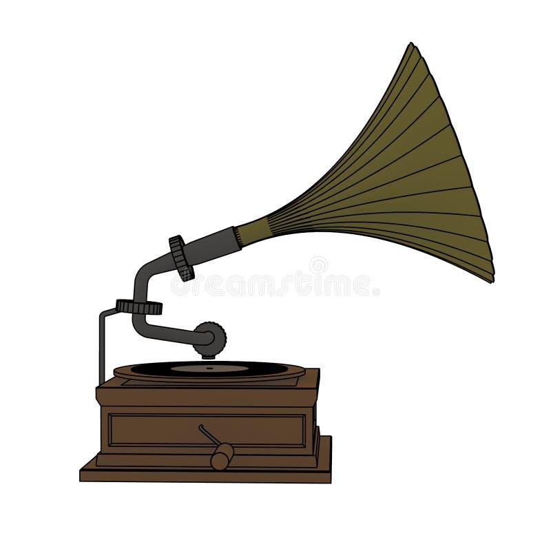 Gramofone velho ilustração royalty free