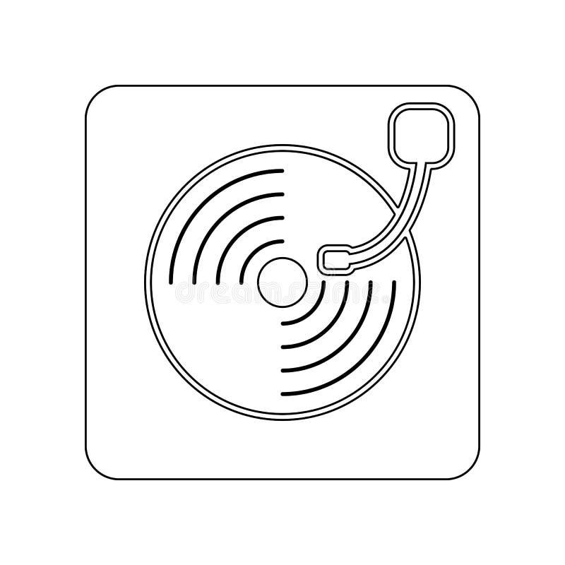 Gramofonowa ikona Element Theatre dla mobilnego poj?cia i sieci apps ikony Kontur, cienka kreskowa ikona dla strona internetowa p ilustracji