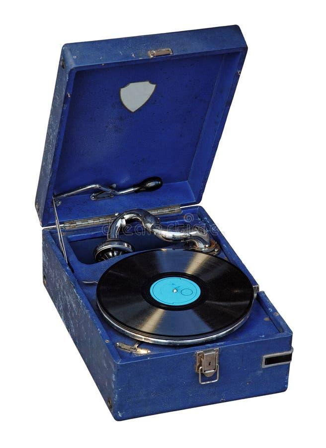gramofonowy przenośny rocznik zdjęcia stock
