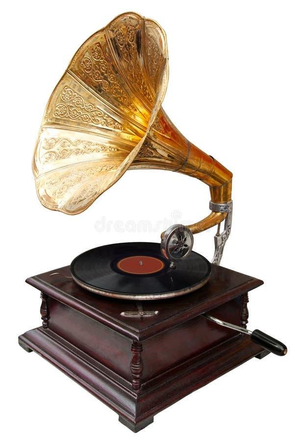 gramofonowy rocznik fotografia royalty free