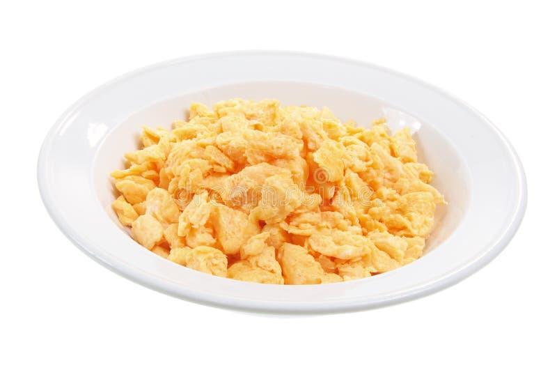 gramolący się jajeczny talerz obraz royalty free