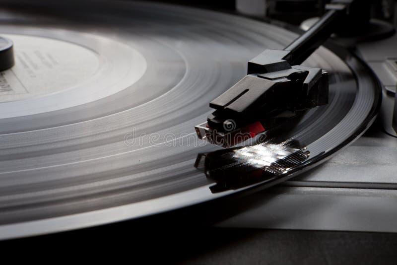 Gramophone βινυλίου αναδρομικό πικάπ μουσικής στοκ φωτογραφία με δικαίωμα ελεύθερης χρήσης